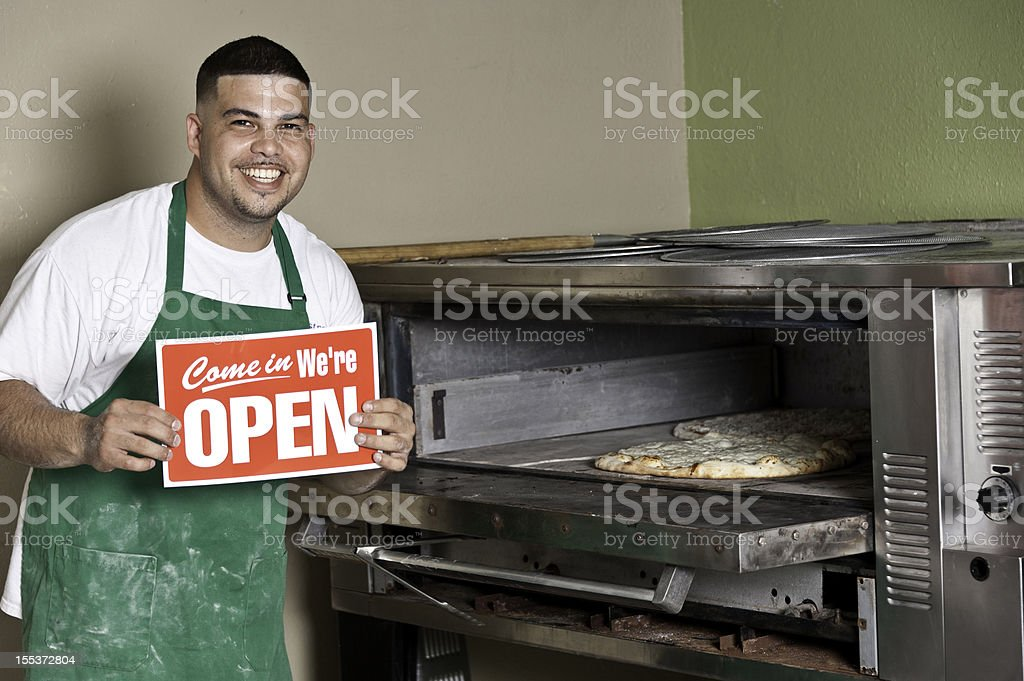 Pizzeria Owner royalty-free stock photo