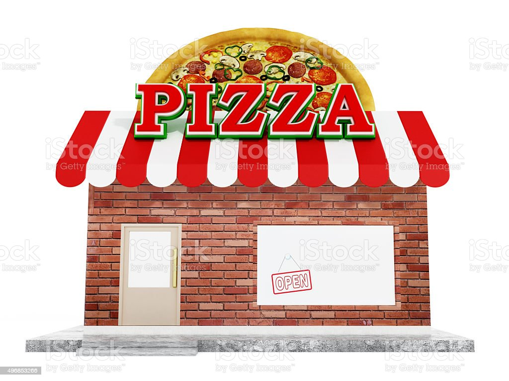 Pizzeria stock photo