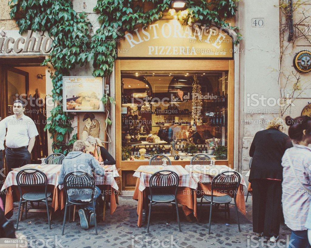 Pizzeria, Rome - Italië royalty free stockfoto