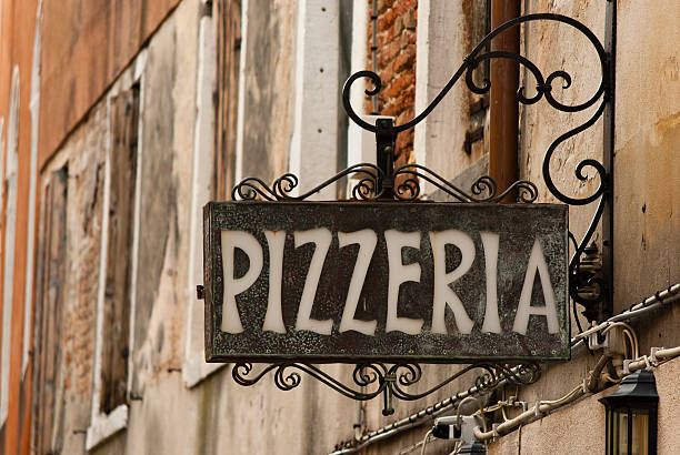 pizzeria sign - pizzeria stock photos and pictures