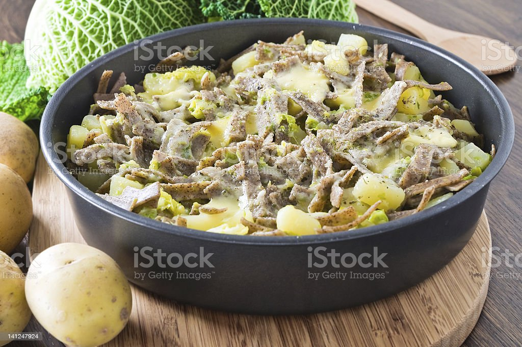 Pizzoccheri, italian homemade pasta. royalty-free stock photo