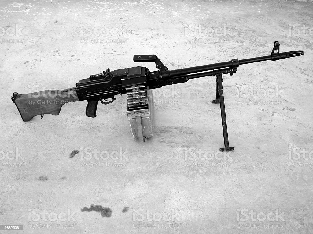 pkm 7.62 russian machine gun royalty-free stock photo