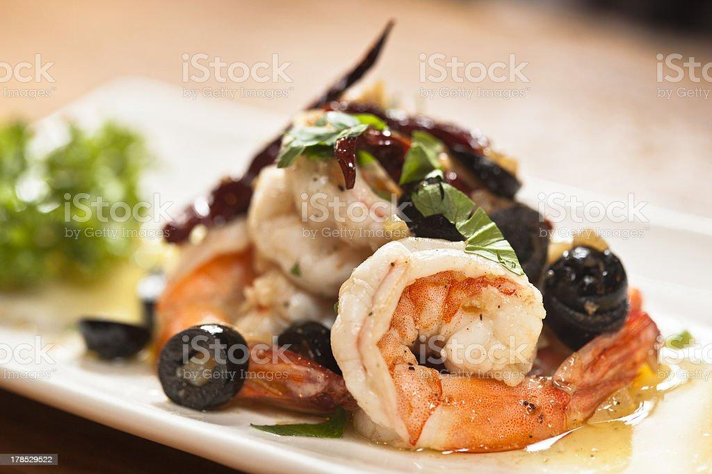 Pla Goong, Thai Spicy Shrimp Salad royalty-free stock photo