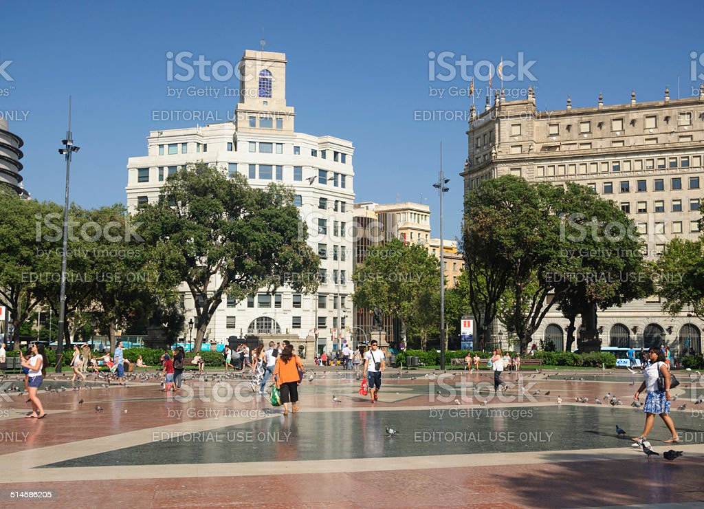 Placa Catalunya open space stock photo