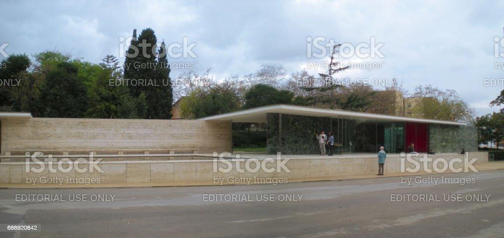 Placa de Carles Buigas in Barcelona stock photo