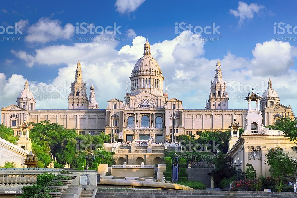 Placa De Espanya, Barcelona royalty-free stock photo