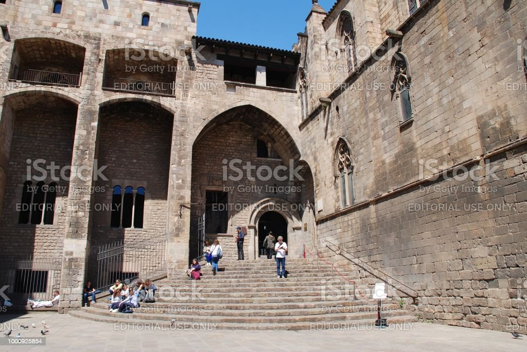 Placa del Rei, Barcelona stock photo
