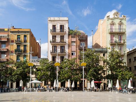 Placa Del Sol Barcelona Stock Photo - Download Image Now