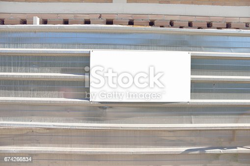 istock placard at the construction work 674266834