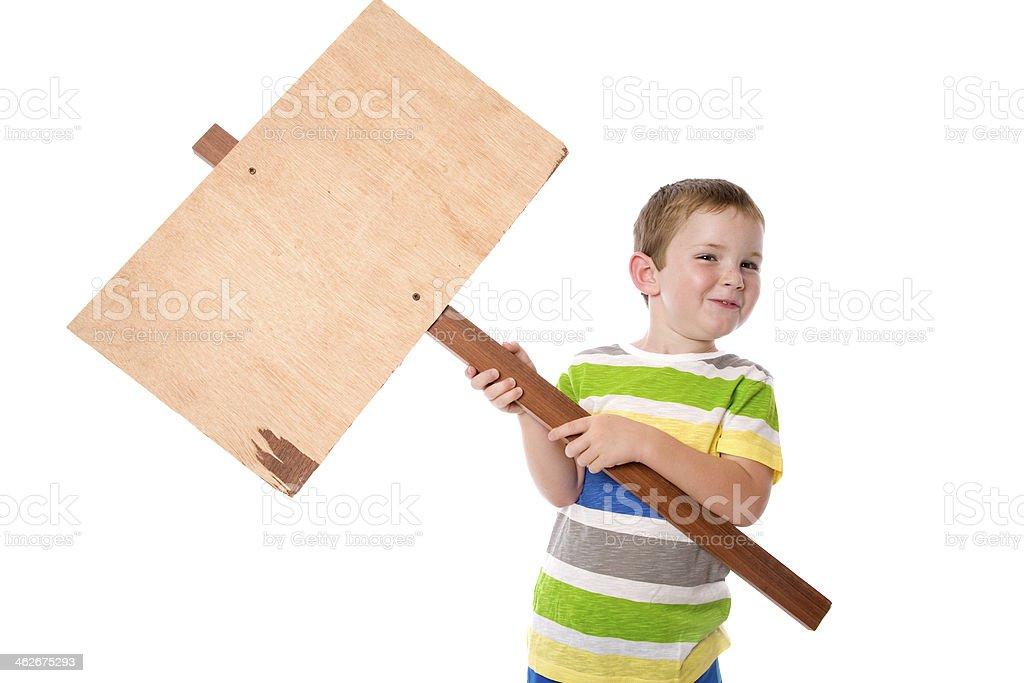 Placard Child stock photo