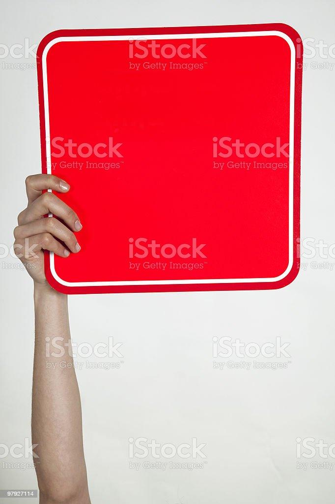 placard royalty-free stock photo