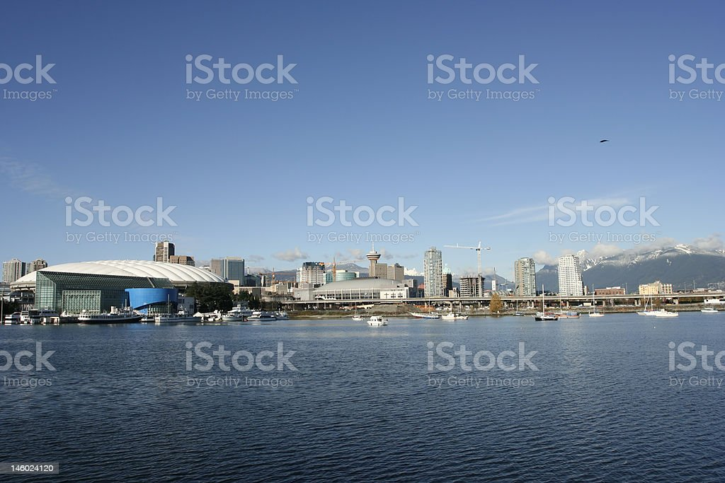 BC Place and South False Creek view royalty-free stock photo