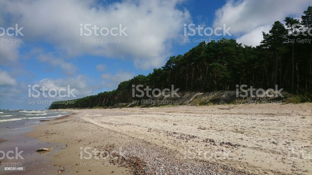 Place called cap of Dutchman in Lithuania stock photo