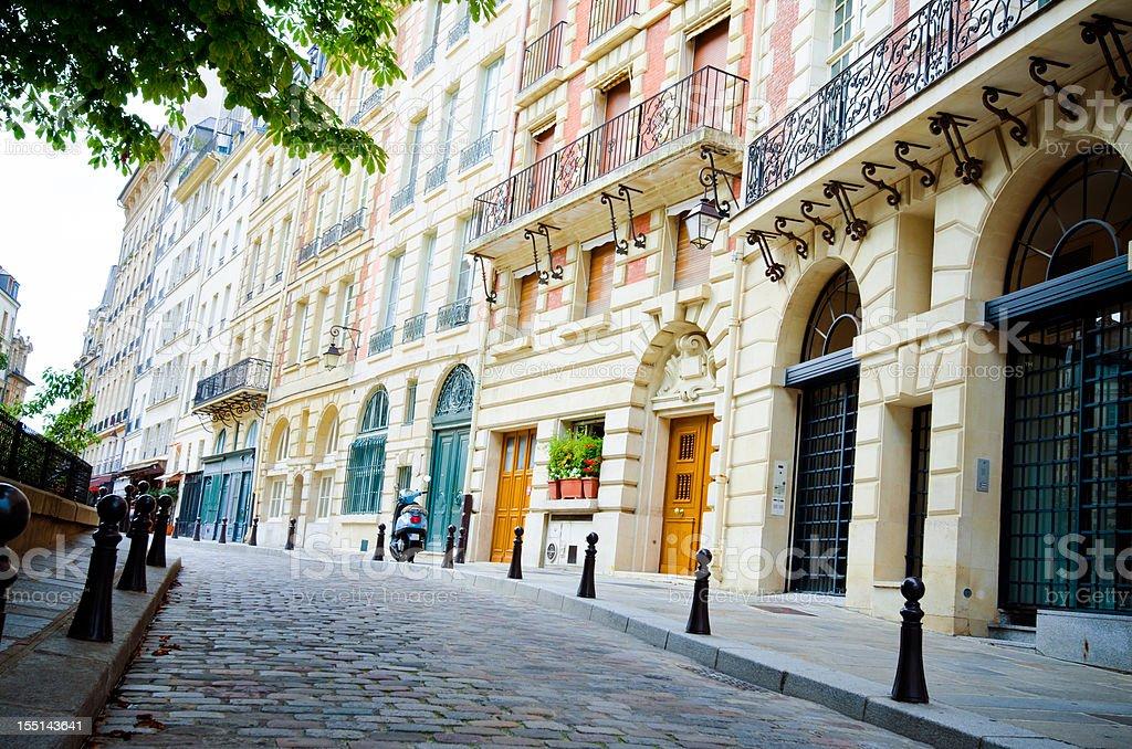 Place Dauphine on Île de la Cité in Paris, France stock photo