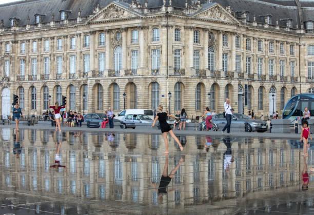 Place de la Bourse, Bordeaux, France stock photo