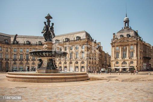 Place de la Bourse, one of the most famous landmarks in Bordeaux, France.