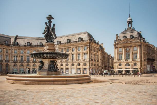 Place de la Bourse, Bordeaux stock photo