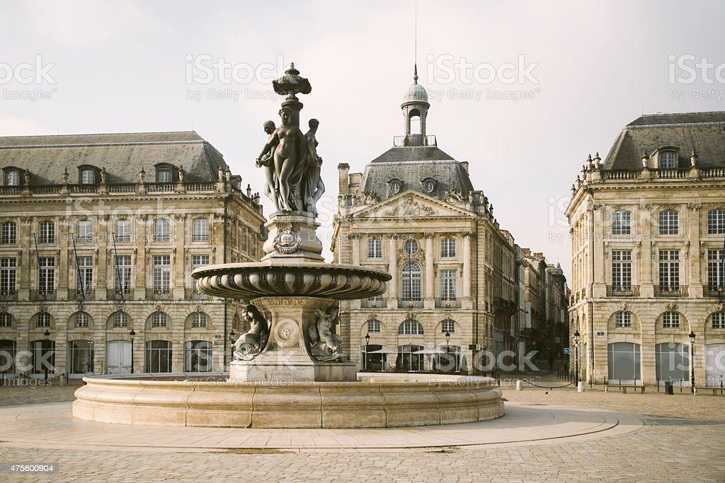Place de la Bourse, Bordéus - fotografia de stock