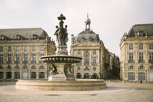 Place de la Bourse, Bordeaux Buildings at Place de la Bourse, Bordeaux, France. bordeaux stock pictures, royalty-free photos & images