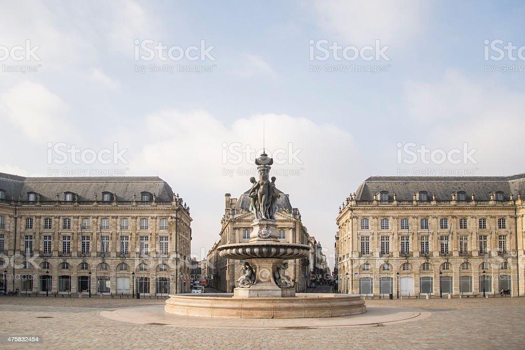 Place de la Bourse, Bordeaux royalty-free stock photo