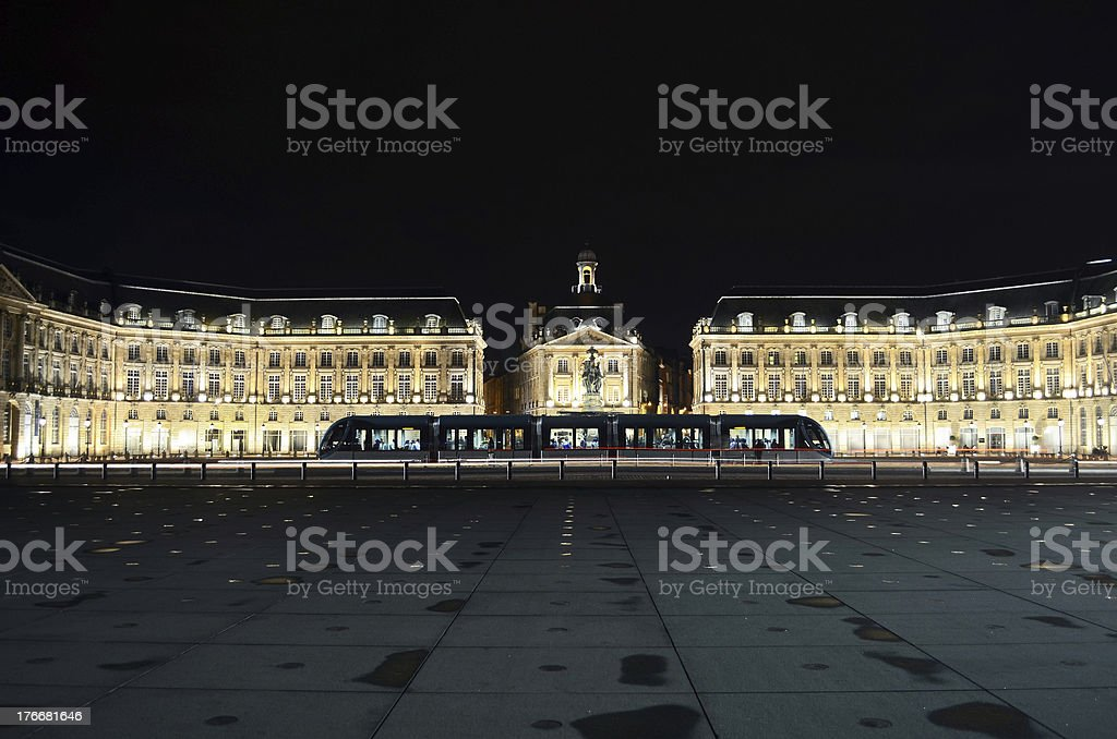 Place de la Bourse royalty-free stock photo