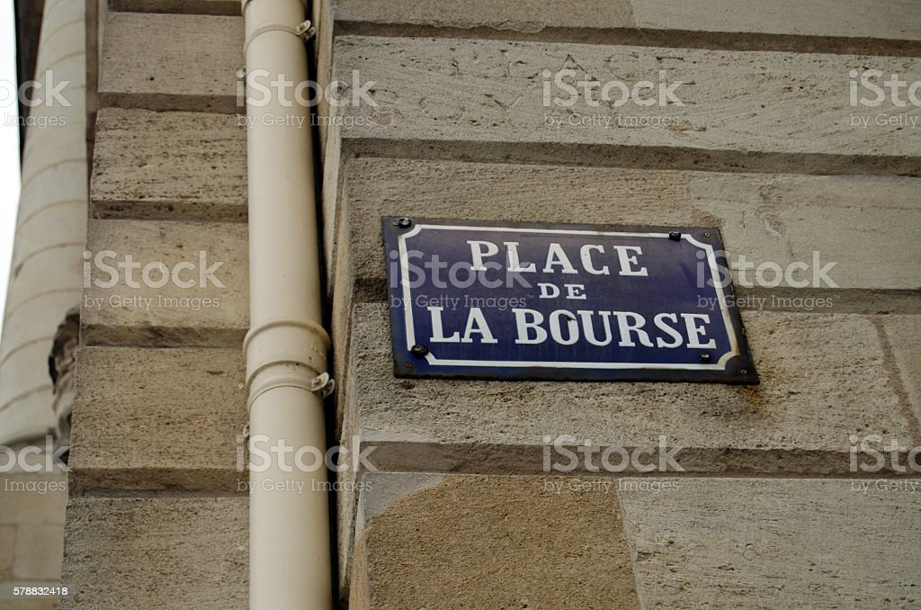 Place de la Bourse sign - Photo