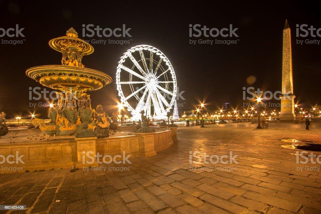 Place de la Concorde at night photo libre de droits