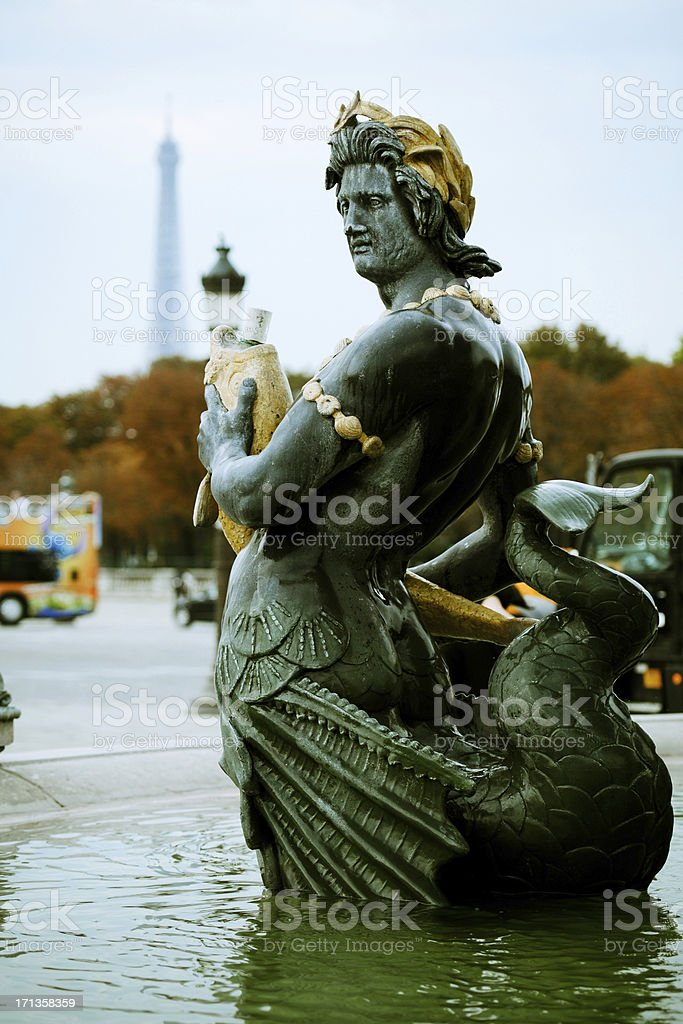 Place de La Concorde Fountain - XLarge royalty-free stock photo