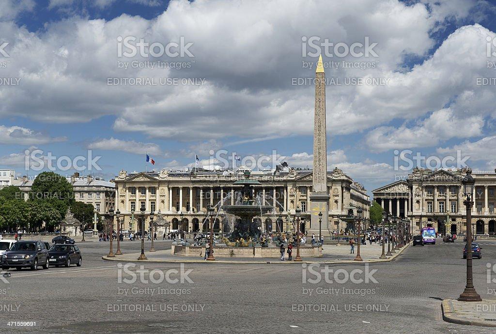 Place de la Concorde in Paris, France in spring stock photo