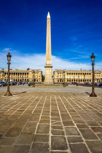 Place de la Concorde, in Paris stock photo
