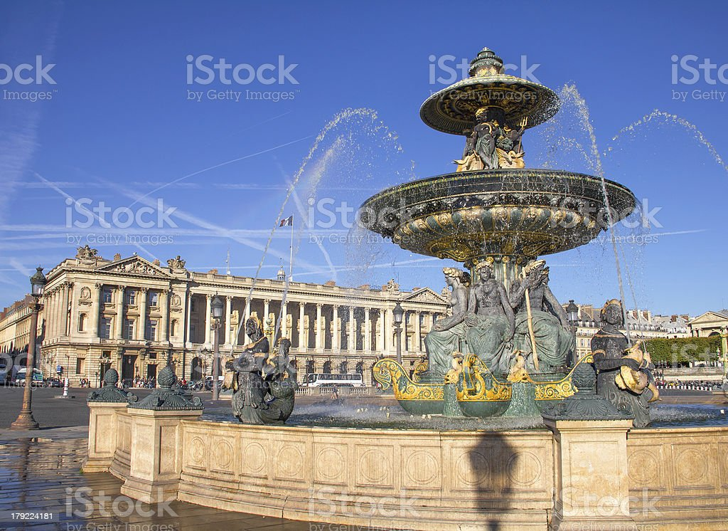Place de la Concorde, Paris, France stock photo