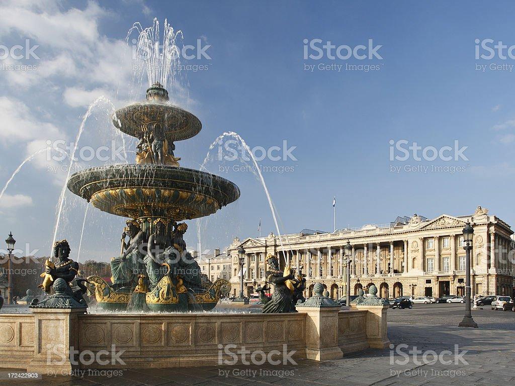 Place de la Concorde royalty-free stock photo