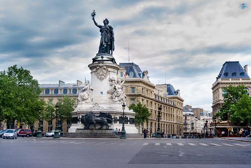 Place de la Republique in Paris, France.