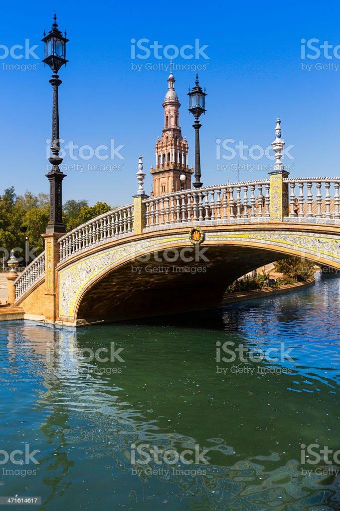 'Place de l'Espagne' in Seville royalty-free stock photo