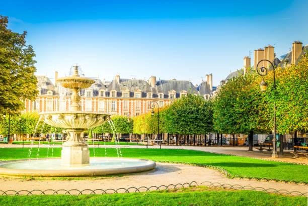 Place de Vosges, Paris stock photo