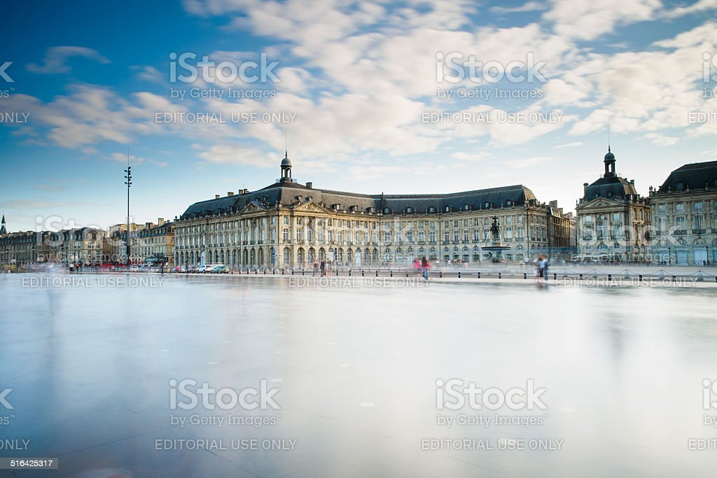 Place des Quinconces stock photo
