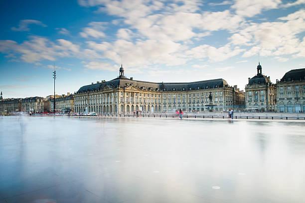 Place des Quinconces Bordeaux, France, August 15, 2014 : A moment of Place des Quinconces, captured via long exposure. bordeaux stock pictures, royalty-free photos & images