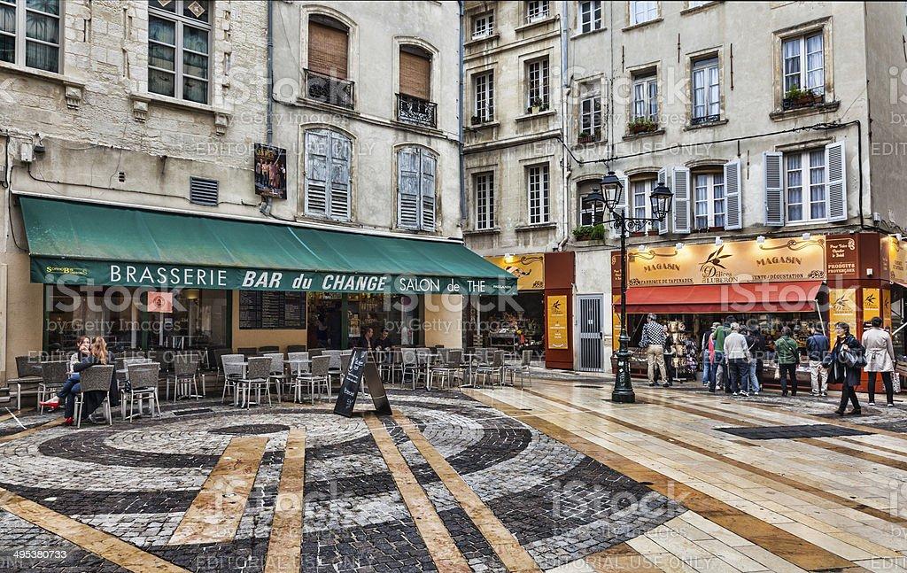 Place du Change- Avignon, France stock photo
