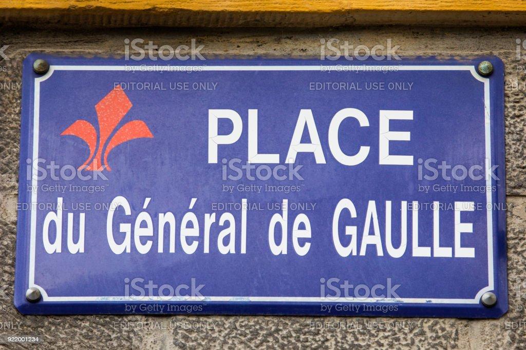 Place du General de Gaulle in Lille, France stock photo