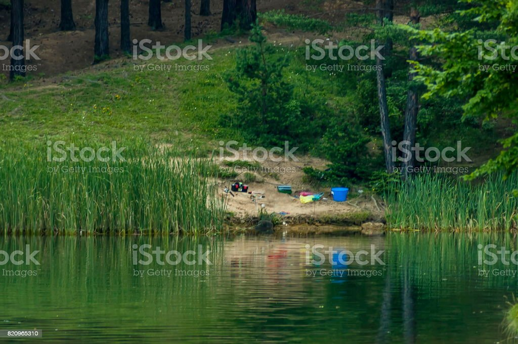 Place For Fishing In The Dam Reservoir Or Barrage Dushantsi At River Topolnitsa Central Balkan Mountain Stara Planina Stock Photo Download Image Now Istock