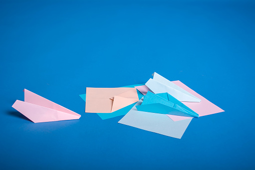 Origami Paper Light Blue Color - 075 mm - 35 sheets   339x509