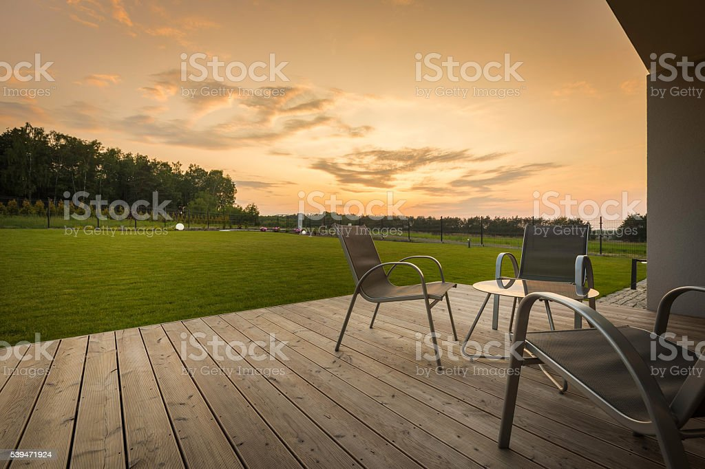 Place for relaxing evening at home stock photo