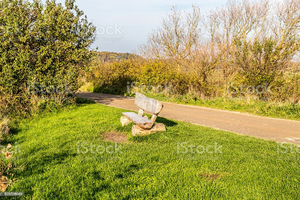 place for the sun in the Geltinger Birk stock photo