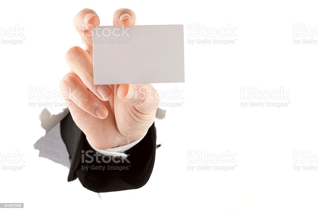 place for your infos on card royalty-free stock photo