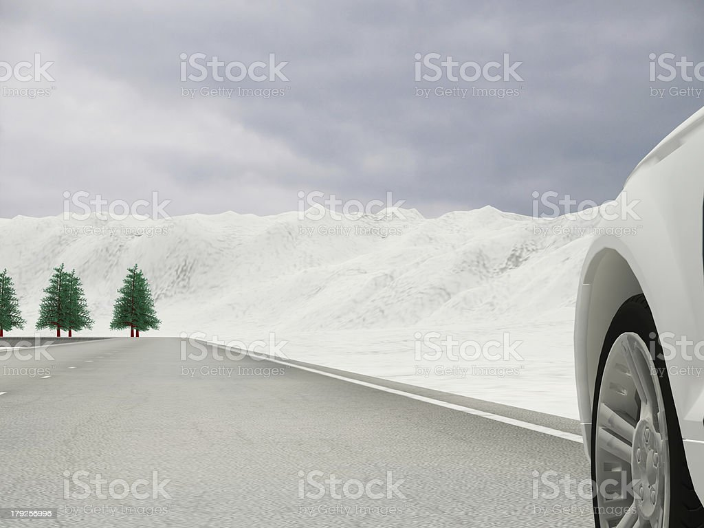 place full of snow royalty-free stock photo