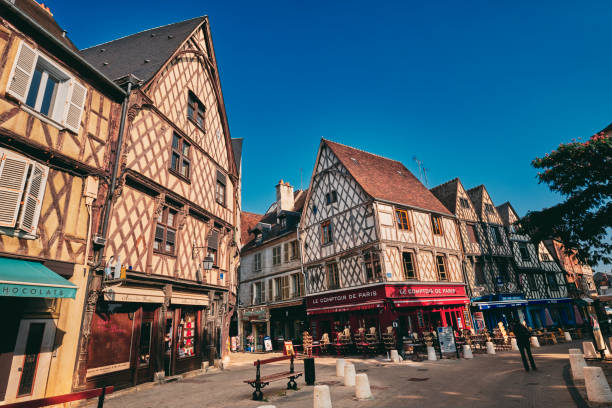 Place Gordaine, Bourges, Auvergne, France stock photo