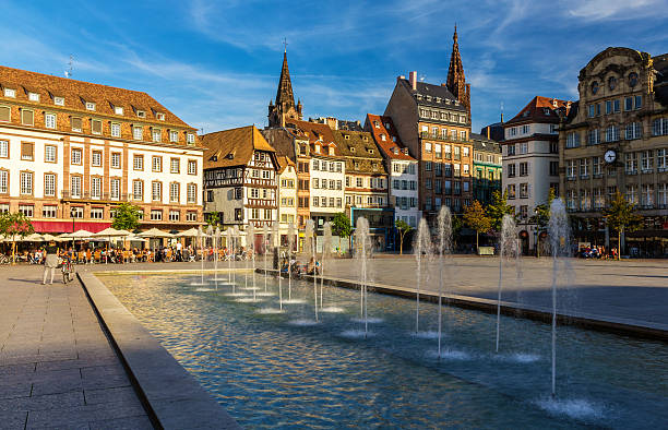 Place Kleber in Strasbourg - Alsace, France Place Kleber in Strasbourg - Alsace, France strasbourg stock pictures, royalty-free photos & images