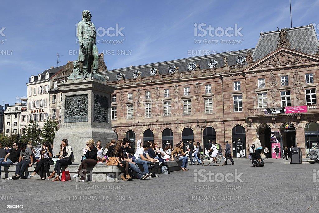 Place Kleber in Strasbourg, France royalty-free stock photo