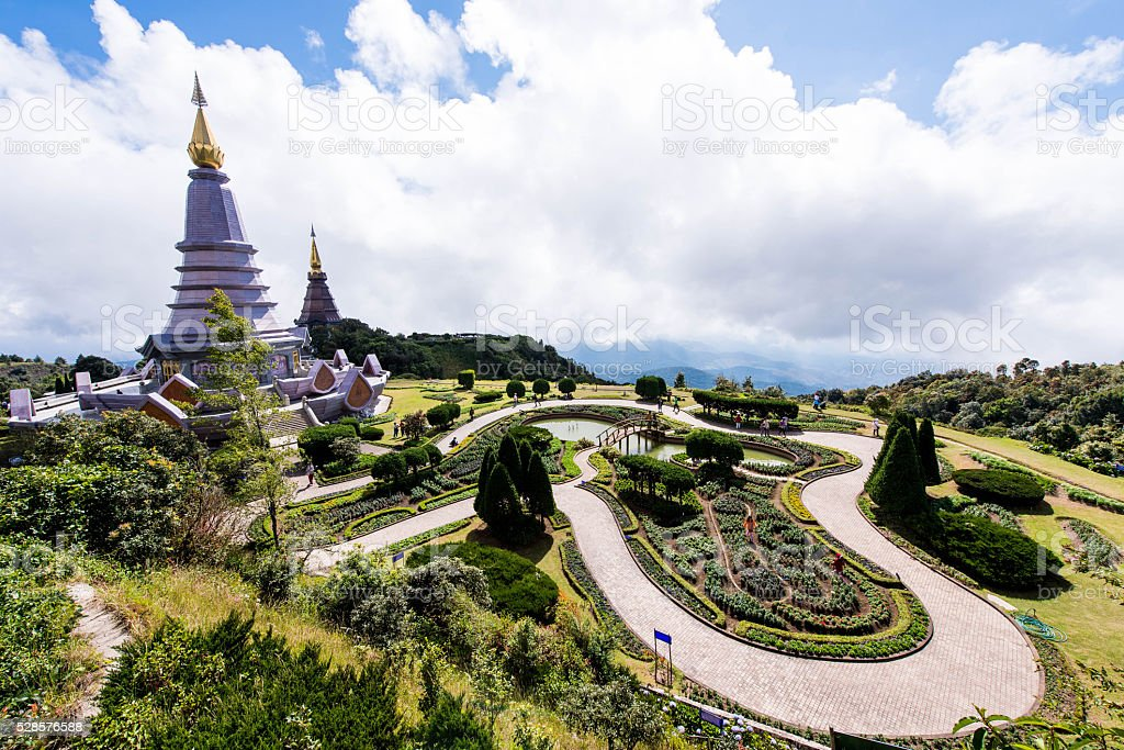 Place leisure travel in an Inthanon mountain stock photo