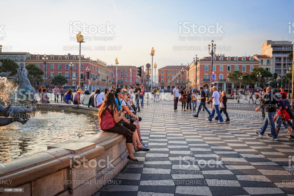 Place Masséna, Nice, France stock photo